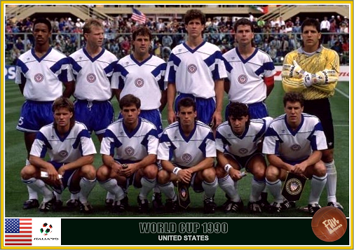 Trittschuh (back, 2nd from L) with Wynalda, Caligiuri, Harkes, Ramos and Vermes in front.