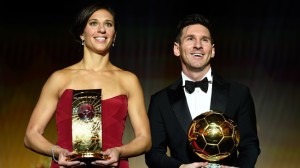 Carli Lloyd Receives Ballon d'Or as Best Female Player in the World