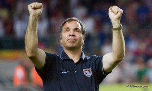 Bruce Arena in St. Louis Tuesday